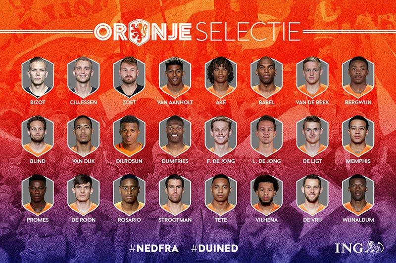 selectie nederlands elftal november 2018