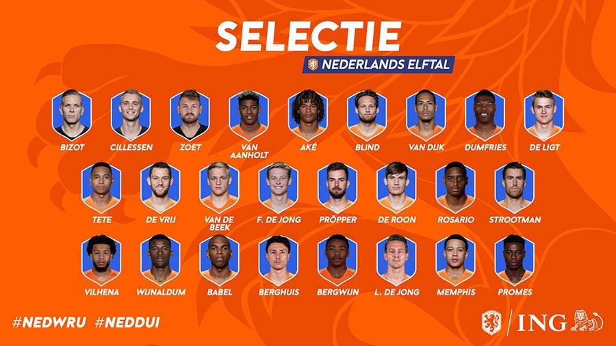 definitieve selectie nederlands elftal 2019