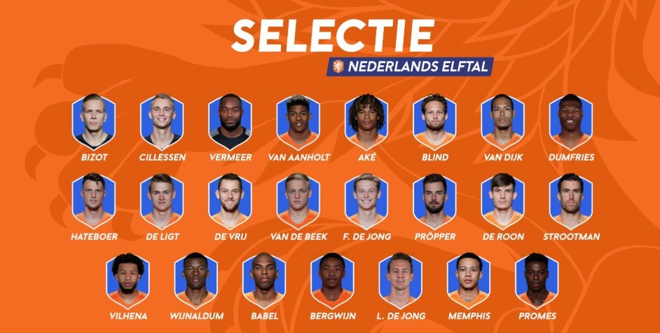 selectie nederlands elftal juni 2019