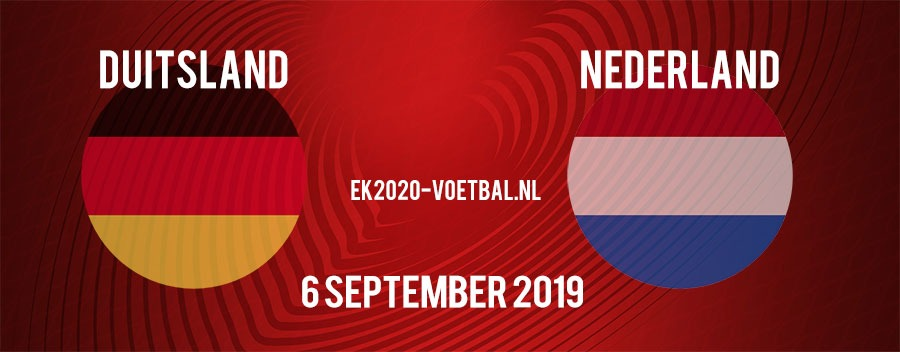 duitsland nederland 6 september 2019 kwalificatie ek 2020