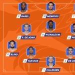 opstelling nederlands elftal tegen letland