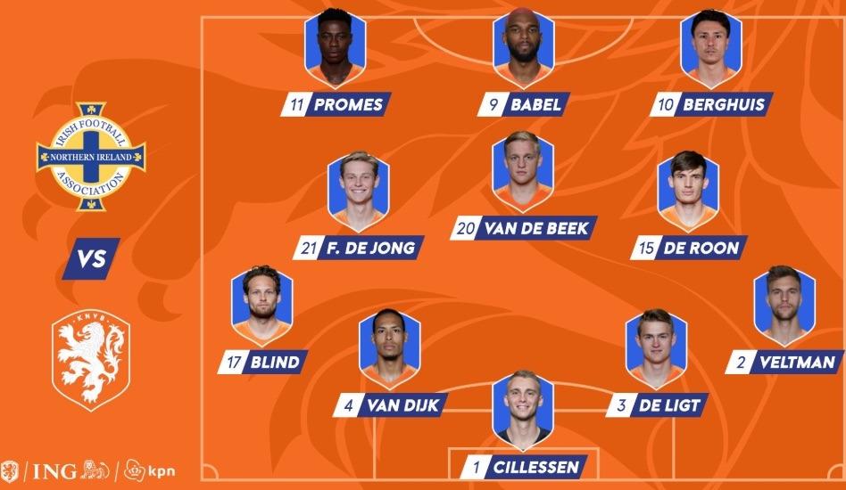 opstelling nederlands-elftal 2019 november