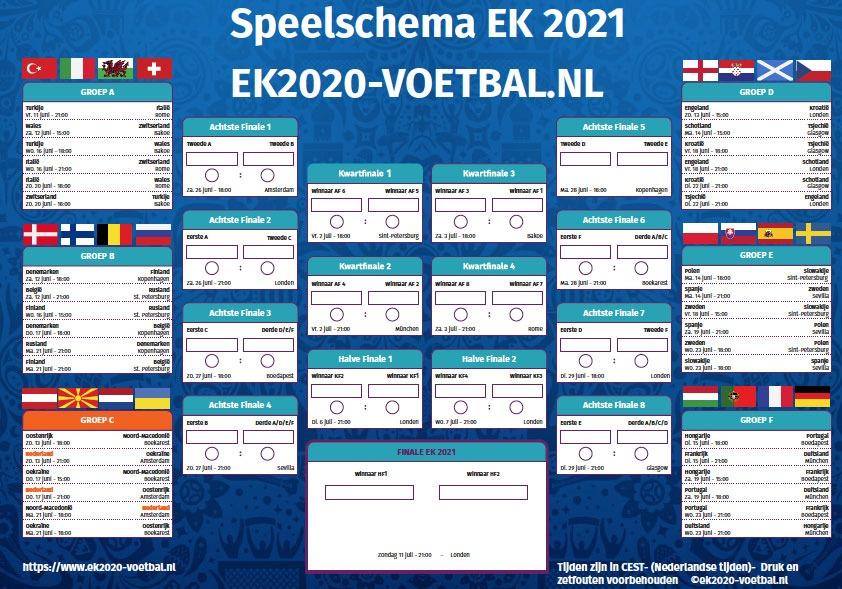 screenshot speelschema PDF EK 2021 download