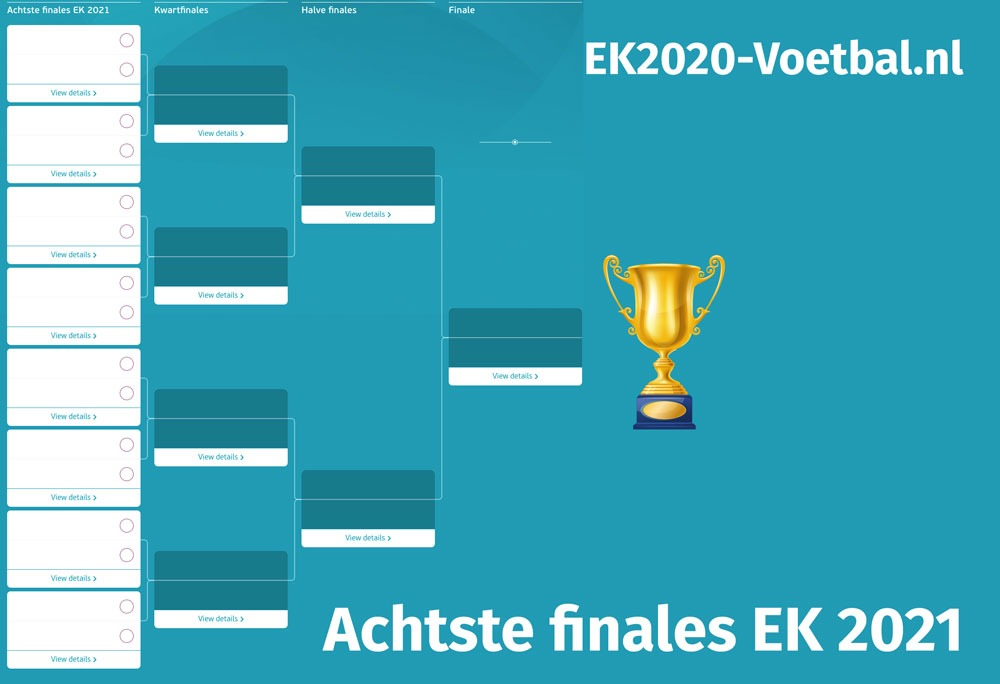 achtste finales EK 2021 invul
