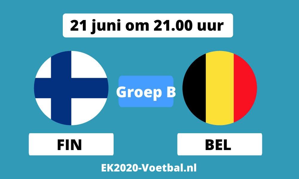 belgie finland EK 2021 voetbal