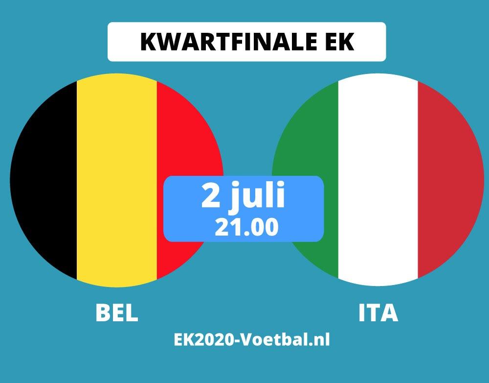 belgie-italie kwartfinale EK 2021 voetbal 2 juli