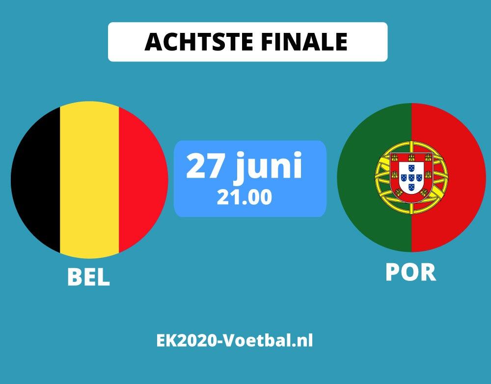 belgie portugal EK 2021 achtste finale 27 juni
