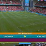 Denemarken Finland stilgelegd EK 2021