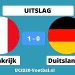 frankrijk-duitsland EK 2021 voetbal uitslag 1-0