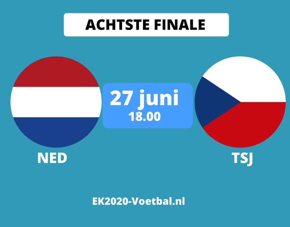 nederland-tsjechie EK 2021 achtste finale voetbal
