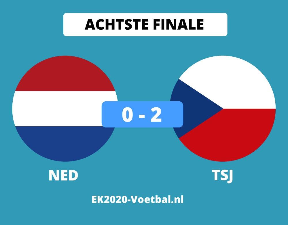 nederland uitgeschakeld EK 2021 voetbal