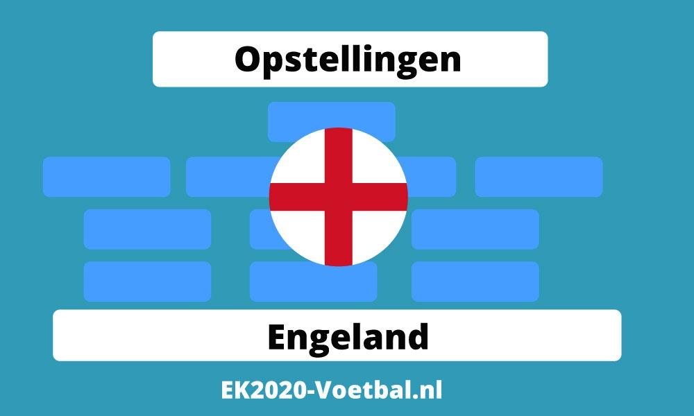 opstelling Engeland EK 2021