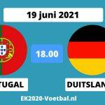 Portugal Duitsland EK 2021 voetbal