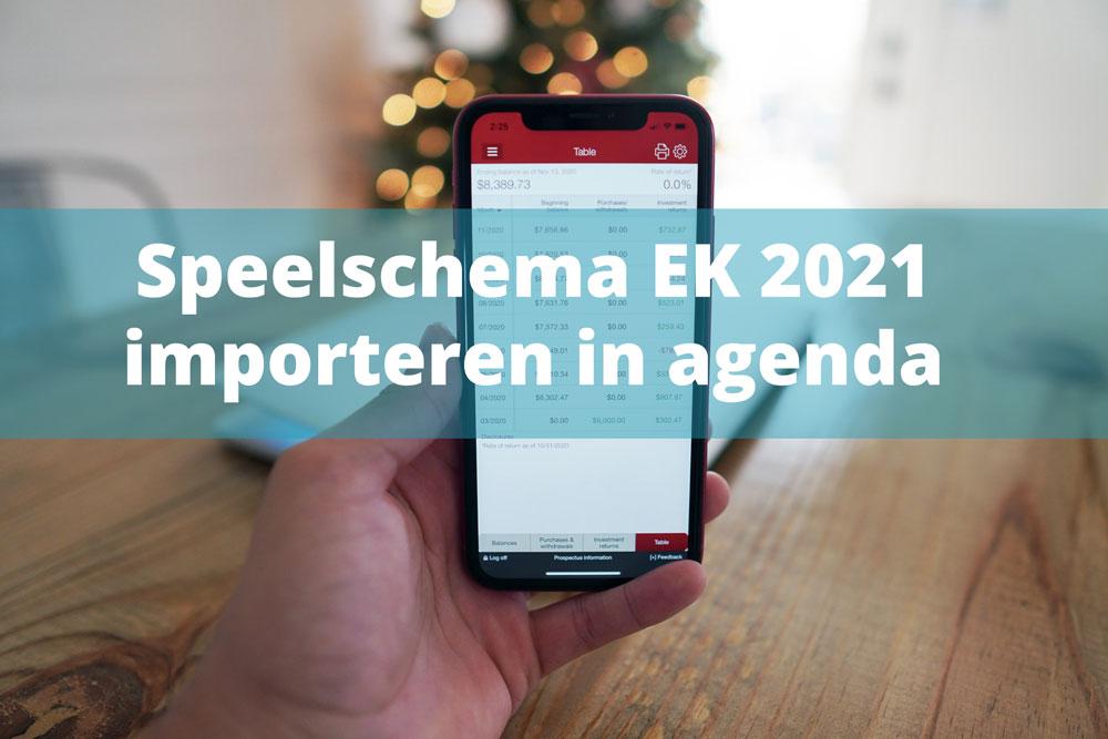speelschema ek 2021 importeren agenda ical