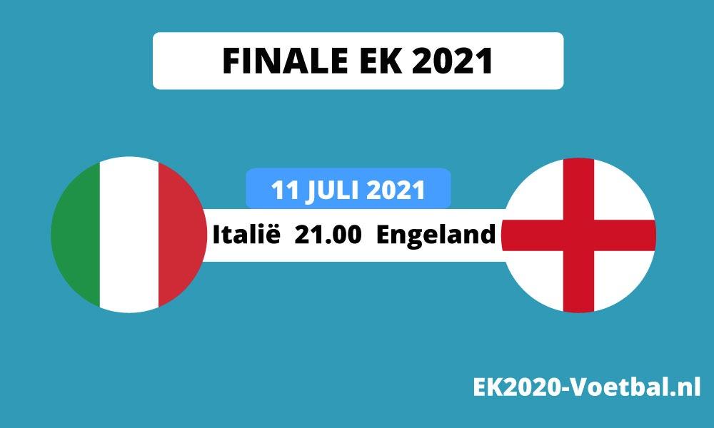 Italië Engeland finale EK 2021 voetbal