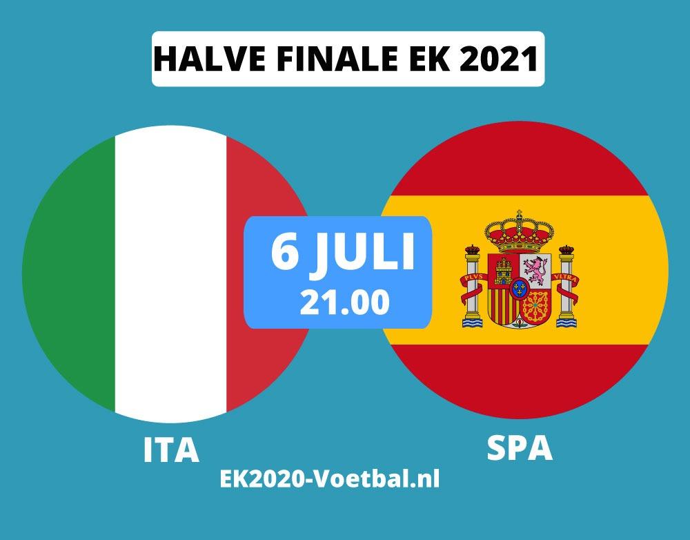 italie spanje halve finale EK 2021 voetbal