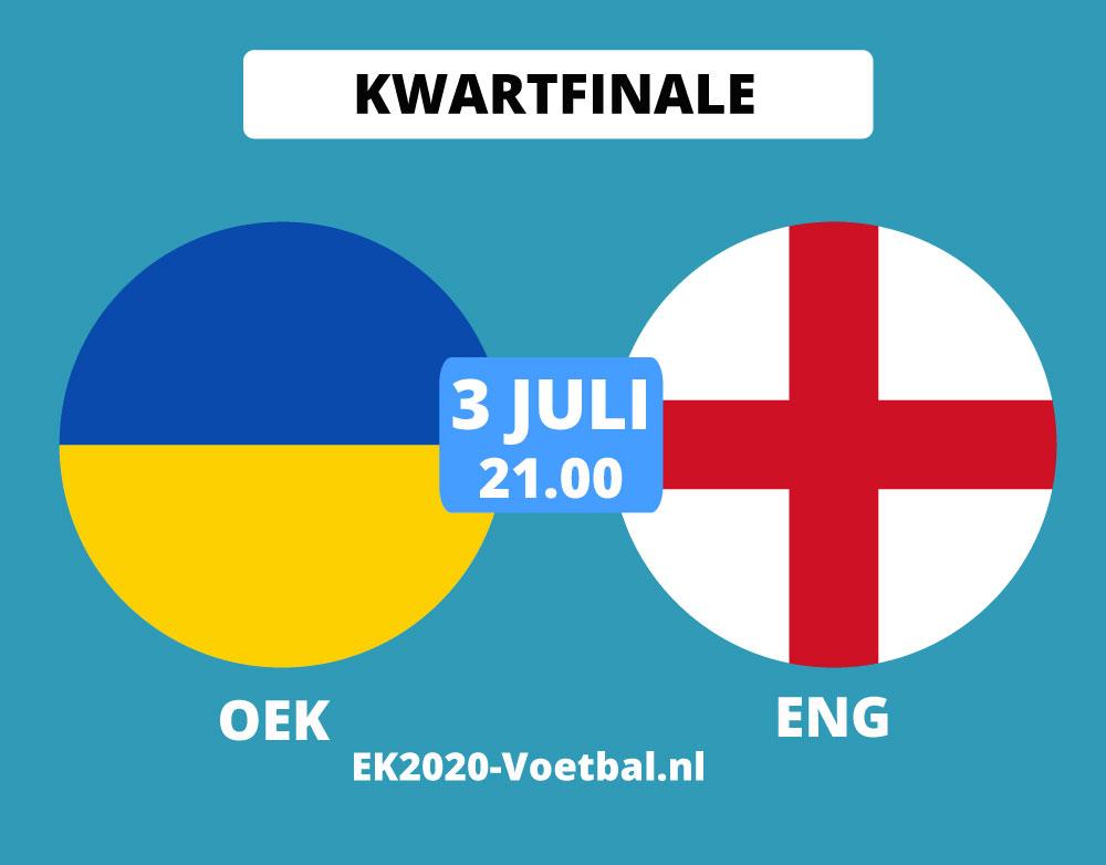 oekraine-engeland kwartfinale EK 2021 voetbal